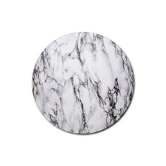 Marble Granite Pattern And Texture Rubber Coaster (round)