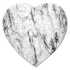 Marble Granite Pattern And Texture Jigsaw Puzzle (heart)