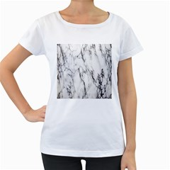 Marble Granite Pattern And Texture Women s Loose Fit T Shirt (white)