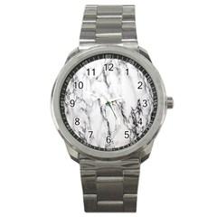 Marble Granite Pattern And Texture Sport Metal Watch
