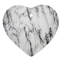 Marble Granite Pattern And Texture Heart Ornament (two Sides)
