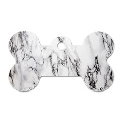 Marble Granite Pattern And Texture Dog Tag Bone (two Sides)
