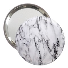 Marble Granite Pattern And Texture 3  Handbag Mirrors