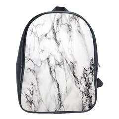 Marble Granite Pattern And Texture School Bag (xl)
