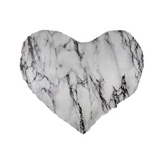 Marble Granite Pattern And Texture Standard 16  Premium Heart Shape Cushions