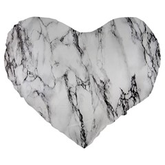 Marble Granite Pattern And Texture Large 19  Premium Flano Heart Shape Cushions