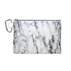 Marble Granite Pattern And Texture Canvas Cosmetic Bag (m)