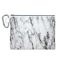 Marble Granite Pattern And Texture Canvas Cosmetic Bag (l)
