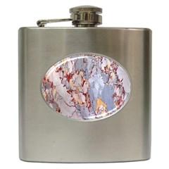 Marble Pattern Hip Flask (6 Oz)