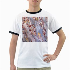 Marble Pattern Ringer T Shirts