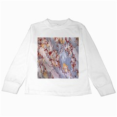 Marble Pattern Kids Long Sleeve T Shirts