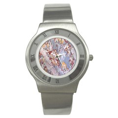 Marble Pattern Stainless Steel Watch