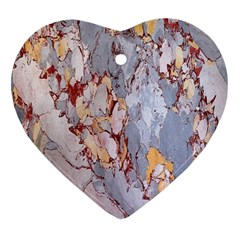Marble Pattern Heart Ornament (two Sides)