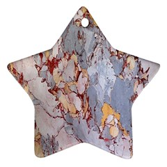 Marble Pattern Star Ornament (two Sides)