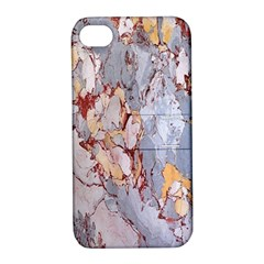 Marble Pattern Apple Iphone 4/4s Hardshell Case With Stand
