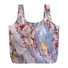 Marble Pattern Full Print Recycle Bags (l)