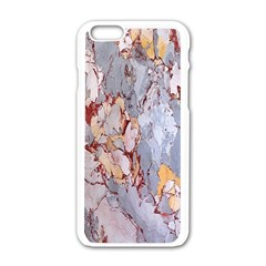 Marble Pattern Apple Iphone 6/6s White Enamel Case