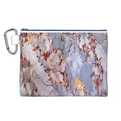 Marble Pattern Canvas Cosmetic Bag (l)
