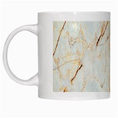 Marble Texture White Pattern Surface Effect White Mugs