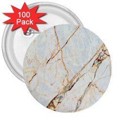 Marble Texture White Pattern Surface Effect 3  Buttons (100 Pack)