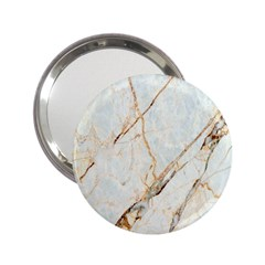 Marble Texture White Pattern Surface Effect 2 25  Handbag Mirrors