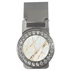 Marble Texture White Pattern Surface Effect Money Clips (cz)