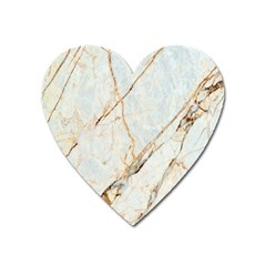 Marble Texture White Pattern Surface Effect Heart Magnet