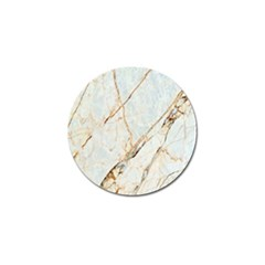 Marble Texture White Pattern Surface Effect Golf Ball Marker (10 Pack)