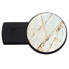 Marble Texture White Pattern Surface Effect Usb Flash Drive Round (2 Gb)