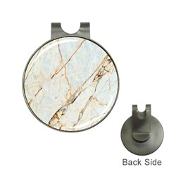 Marble Texture White Pattern Surface Effect Hat Clips With Golf Markers