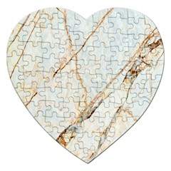 Marble Texture White Pattern Surface Effect Jigsaw Puzzle (heart)