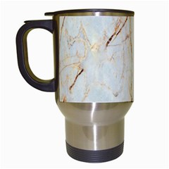 Marble Texture White Pattern Surface Effect Travel Mugs (white)