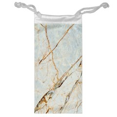 Marble Texture White Pattern Surface Effect Jewelry Bag