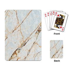 Marble Texture White Pattern Surface Effect Playing Card