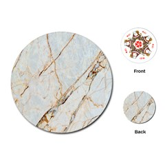 Marble Texture White Pattern Surface Effect Playing Cards (round)