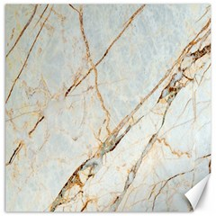 Marble Texture White Pattern Surface Effect Canvas 16  X 16