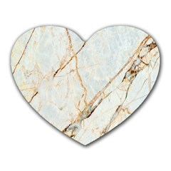 Marble Texture White Pattern Surface Effect Heart Mousepads