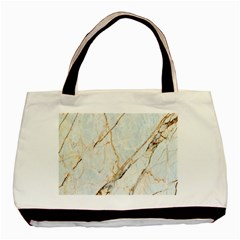 Marble Texture White Pattern Surface Effect Basic Tote Bag (two Sides)
