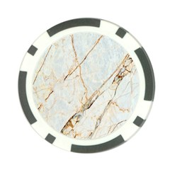 Marble Texture White Pattern Surface Effect Poker Chip Card Guard