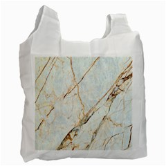 Marble Texture White Pattern Surface Effect Recycle Bag (two Side)