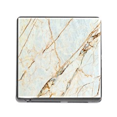 Marble Texture White Pattern Surface Effect Memory Card Reader (square)