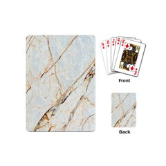 Marble Texture White Pattern Surface Effect Playing Cards (mini)