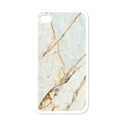 Marble Texture White Pattern Surface Effect Apple Iphone 4 Case (white)