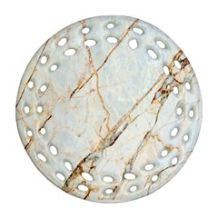 Marble Texture White Pattern Surface Effect Ornament (round Filigree)