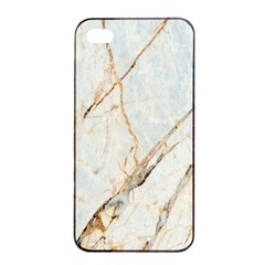 Marble Texture White Pattern Surface Effect Apple Iphone 4/4s Seamless Case (black)