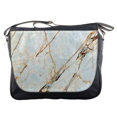 Marble Texture White Pattern Surface Effect Messenger Bags