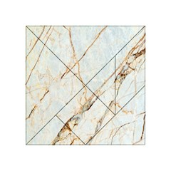 Marble Texture White Pattern Surface Effect Acrylic Tangram Puzzle (4  X 4 )
