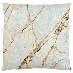 Marble Texture White Pattern Surface Effect Large Cushion Case (one Side)