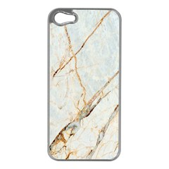 Marble Texture White Pattern Surface Effect Apple Iphone 5 Case (silver)