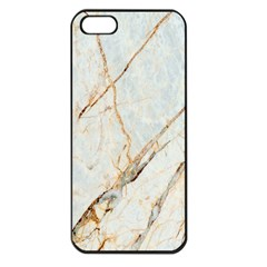 Marble Texture White Pattern Surface Effect Apple Iphone 5 Seamless Case (black)